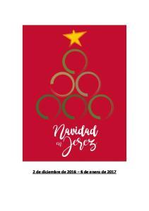 Navidad en Jerez 2016 PROGRAMA DE ACTIVIDADES