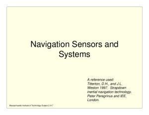 Navigation Sensors and Systems
