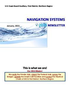 NAVIGATION SYSTEMS 2015 NEWSLETTER