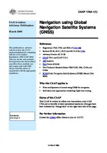 Navigation using Global Navigation Satellite Systems (GNSS)
