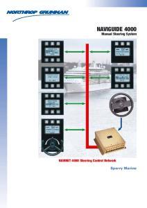 NAVIGUIDE Manual Steering System. NAVINET 4000 Steering Control Network. Sperry Marine