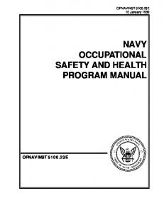 NAVY OCCUPATIONAL SAFETY AND HEALTH PROGRAM MANUAL