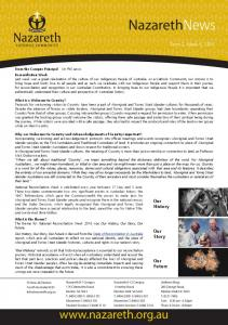 NazarethNews.  Term 2, Week 6, Our History. Our Story. Our Future