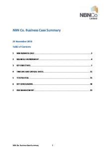 NBN Co. Business Case Summary