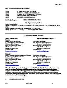 N.C. Department of Public Instruction. N. C. Department of Public Instruction N.C. Department of Public Instruction