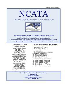 NCATA The North Carolina Association of Teacher Assistants