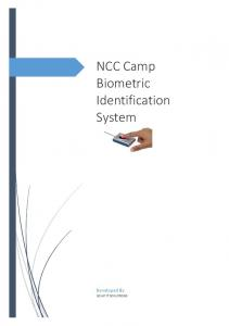 NCC Camp Biometric Identification System