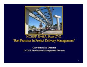 NCHRP 20-68A, Scan Best Practices in Project Delivery Management