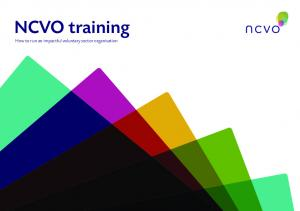 NCVO training. How to run an impactful voluntary sector organisation