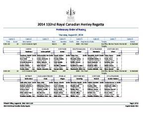 nd Royal Canadian Henley Regatta