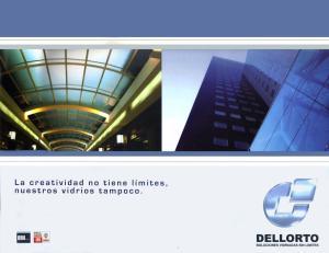 ndice Empresa Vidrios Arquitectónicos Vidrios Industriales