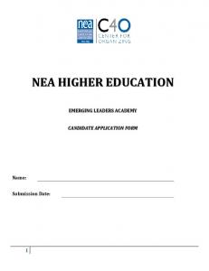 NEA HIGHER EDUCATION