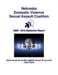 Nebraska Domestic Violence Sexual Assault Coalition Statewide Report