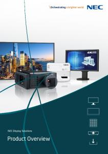 NEC Display Solutions. Product Overview
