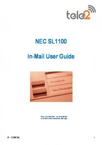 NEC SL1100. In-Mail User Guide