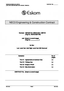 NEC3 Engineering & Construction Contract