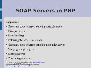 Necessary steps when constructing a simple server