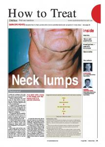 Neck lumps. How to Treat. inside. Background
