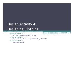Neckline (pp. 246~248, pp. 250~251) Your own design