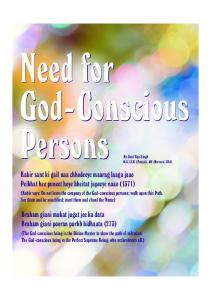 Need for God-Conscious Persons