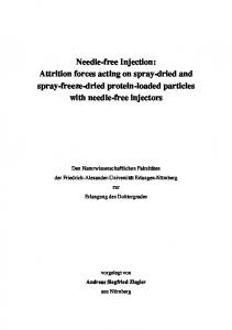 Needle-free Injection: Attrition forces acting on spray-dried and spray-freeze-dried protein-loaded particles with needle-free injectors
