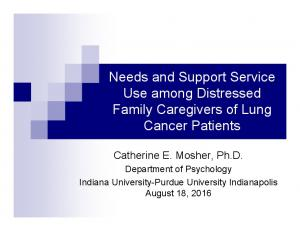 Needs and Support Service Use among Distressed Family Caregivers of Lung Cancer Patients