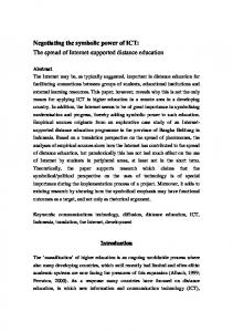 Negotiating the symbolic power of ICT: The spread of Internet-supported distance education