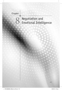 Negotiation and Emotional Intelligence