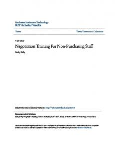 Negotiation Training For Non-Purchasing Staff