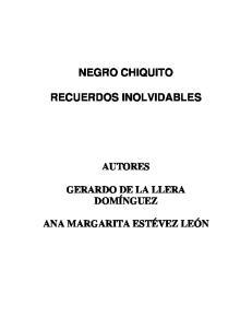 NEGRO CHIQUITO RECUERDOS INOLVIDABLES