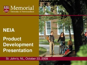 NEIA Product Development Presentation