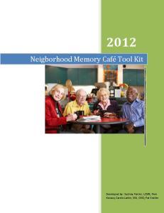 Neigborhood Memory Café Tool Kit