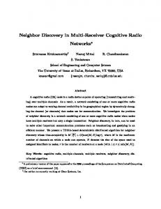 Neighbor Discovery in Multi-Receiver Cognitive Radio Networks