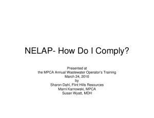 NELAP- How Do I Comply?