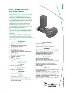 NELES TRUNNION MOUNTED BALL VALVE SERIES D