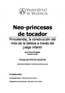 Neo-princesas de tocador