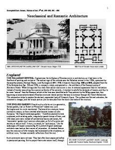 Neoclassical and Romantic Architecture
