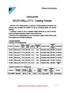 NEOFLON TM ETFE Coating Powder