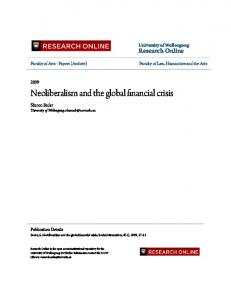 Neoliberalism and the global financial crisis