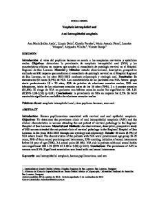Neoplasia intraepitelial anal. Anal intraepithelial neoplasia