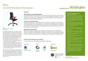 Neos. Umwelt Produkt Information. Leitmotive
