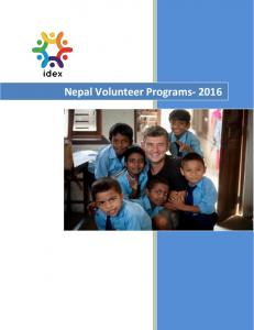 Nepal Volunteer Programs- 2016