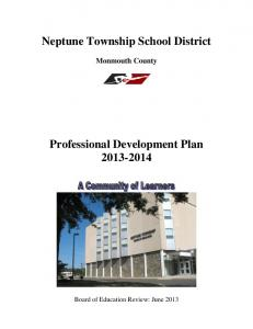 Neptune Township School District. Monmouth County. Professional Development Plan