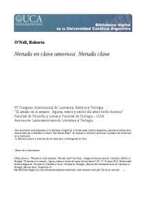 Neruda en clave amorosa: Neruda clave