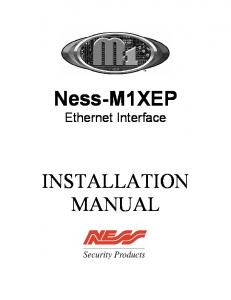 Ness-M1XEP Ethernet Interface INSTALLATION MANUAL