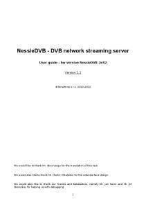 NessieDVB - DVB network streaming server