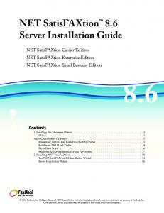 NET SatisFAXtion 8.6 Server Installation Guide