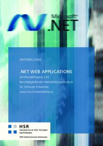 NET WEB APPLICATIONS