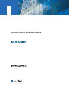 NetApp SANtricity Web Services Proxy 1.4 User Guide