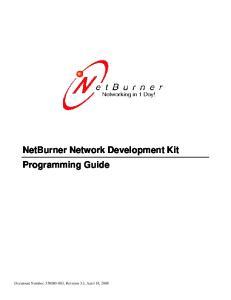 NetBurner Network Development Kit Programming Guide